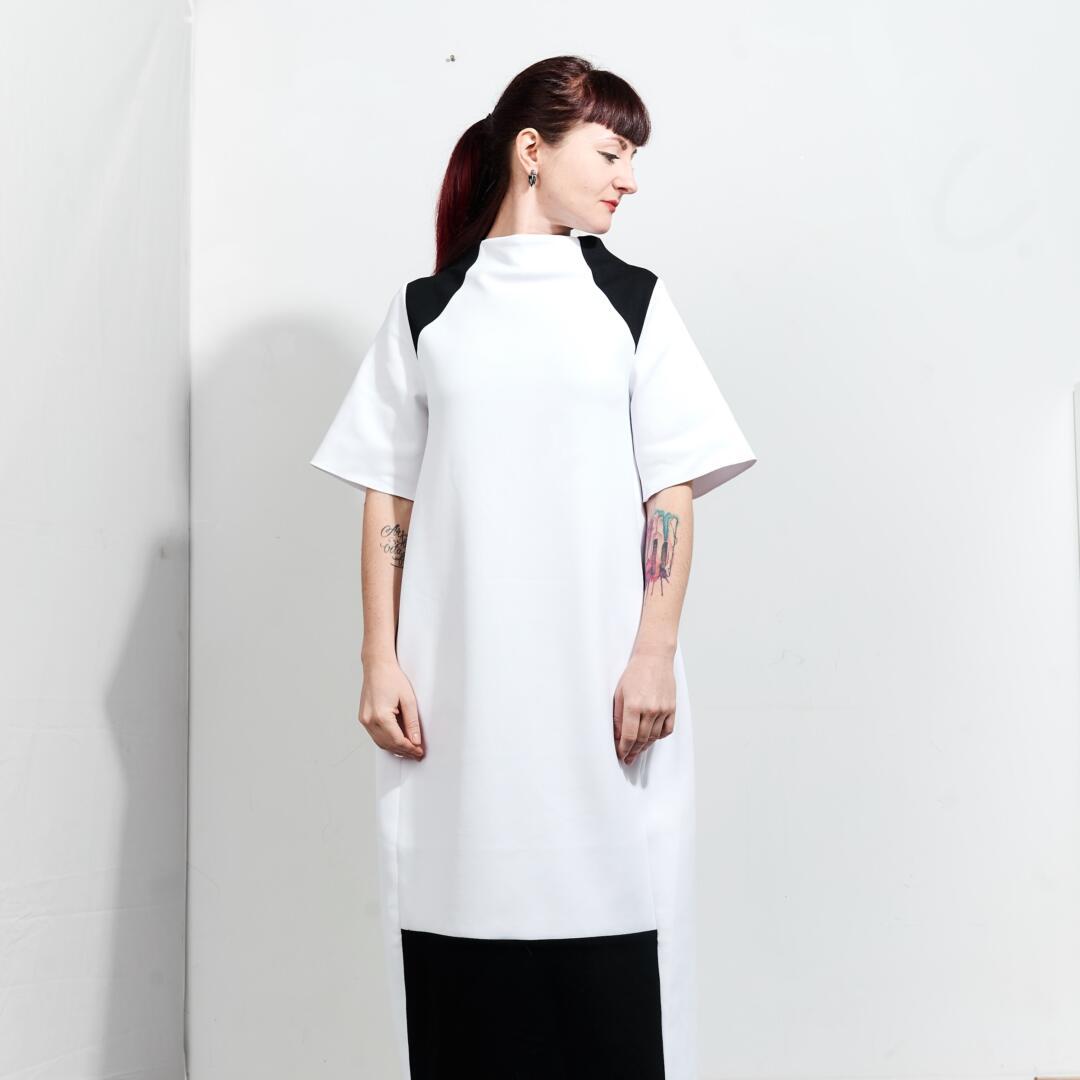 Kati black and white dress by fuenf 0006