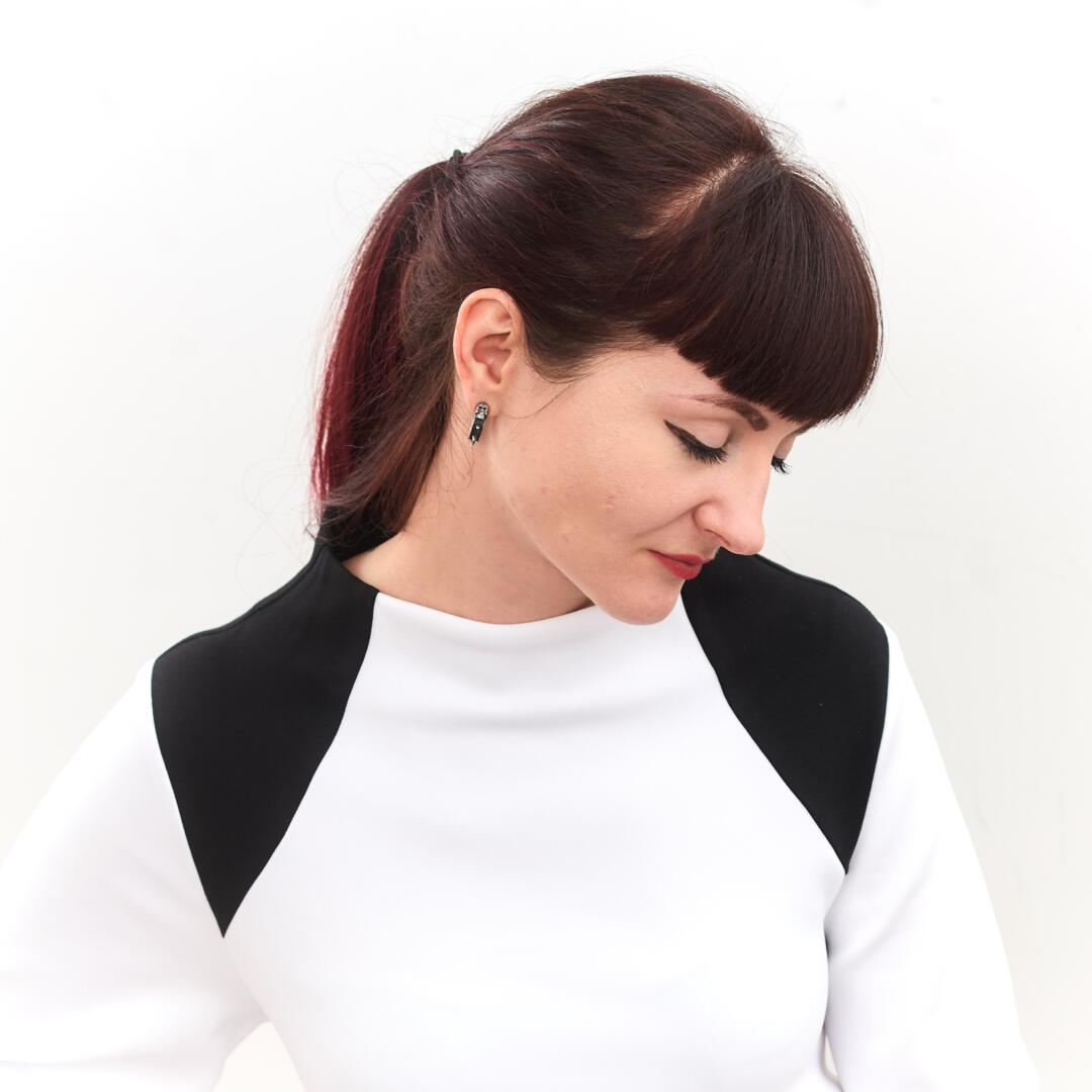 Kati black and white dress by fuenf 0160