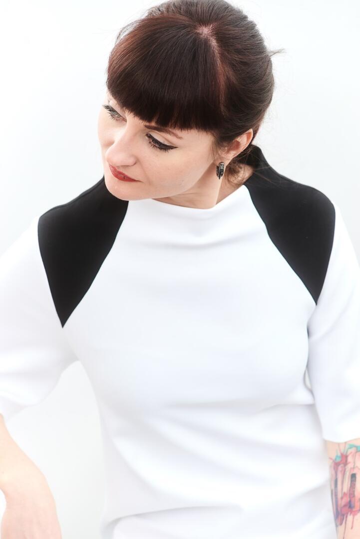 Kati black and white dress by fuenf 0171