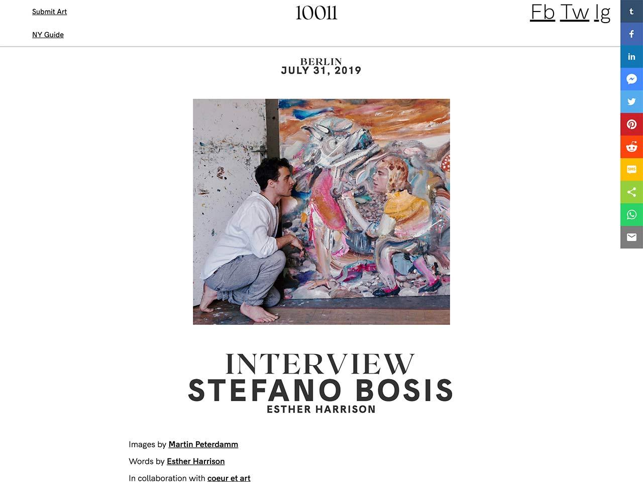 Artist Portrait, Artist Portrait of the Painter Stefano Bosis for 10011mag, Martin Peterdamm Photography