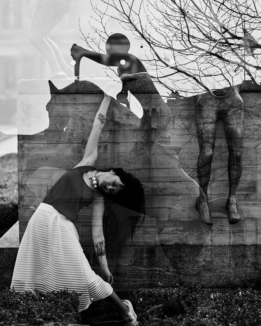 virtuellen Welt, Dancing with Ghosts   konzeptionelle Fotoserie mit Kat de Ville, Martin Peterdamm Photography